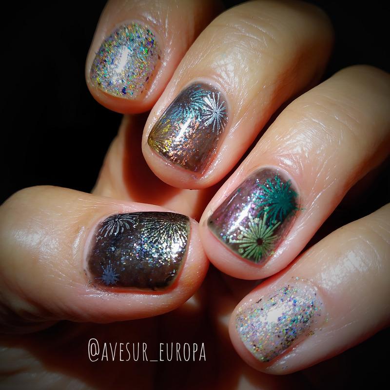 New Year nail art by Avesur Europa