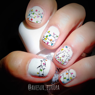Lights nail art by Avesur Europa