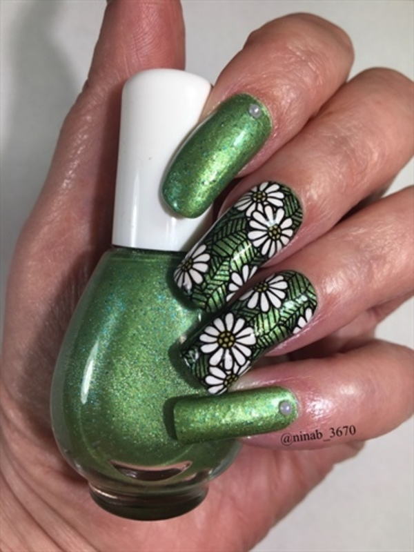 Franken Polish nail art by NinaB