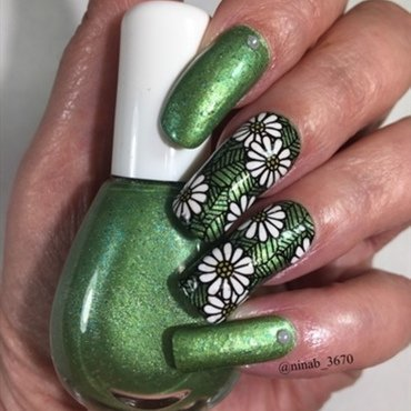 Franken Polish nail art by NinaB