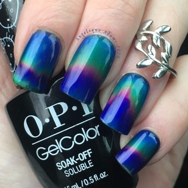 Thermochromic liquid  nail art by Angelique Adams