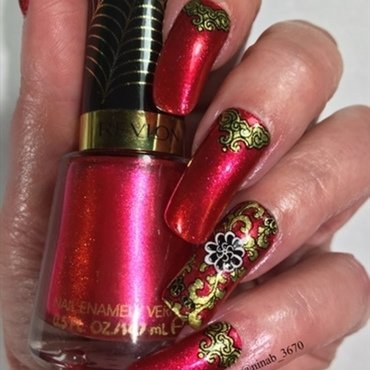 Chinese New Year nail art by NinaB