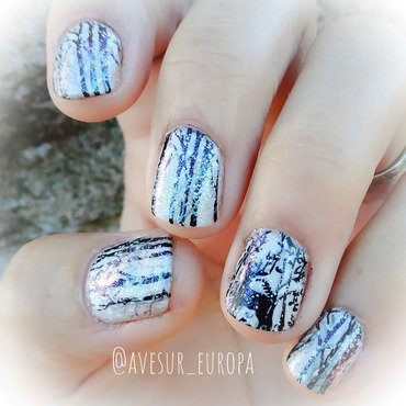 Winter Wonderland nail art by Avesur Europa