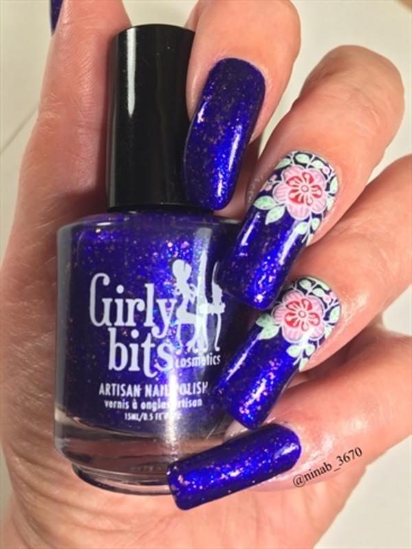 Purple Heaven nail art by NinaB