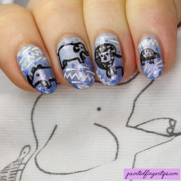Baby boy animal nails nail art by Kerry_Fingertips