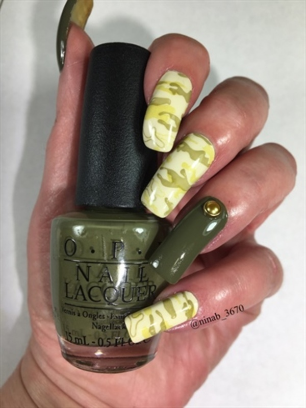 Camo Nails nail art by NinaB