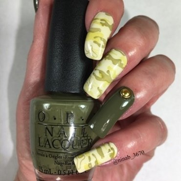 Camo Nails nail art by NinaB