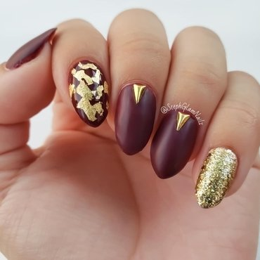 Fall nails  nail art by StephGlamNailz