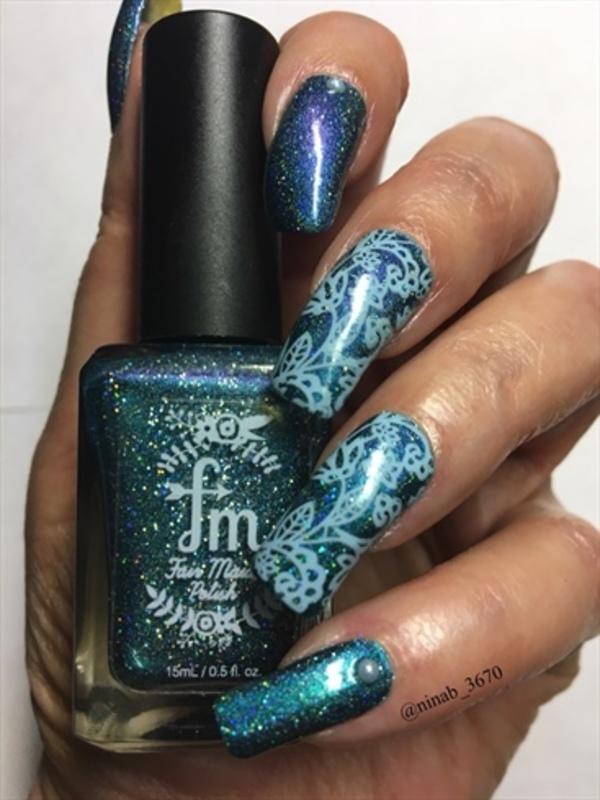 Cosmic nail art by NinaB
