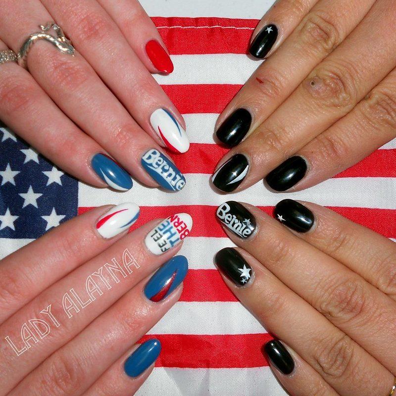 Bernie Nails nail art by Alayna Josz
