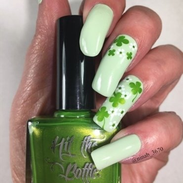 St. Pat's 20 nail art by NinaB