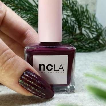Paznokcie - lubię bordowy kolor nail art by MaliNaila