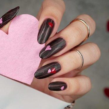 Romantyczne, choć drewno nail art by MaliNaila