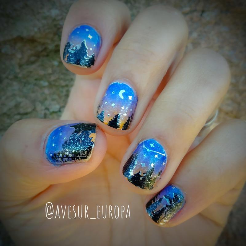 Sintra Sunset nail art by Avesur Europa