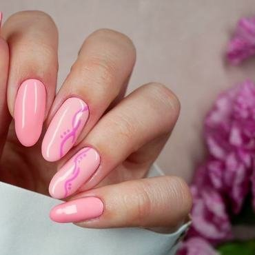 Pastelowa hybryda nail art by MaliNaila