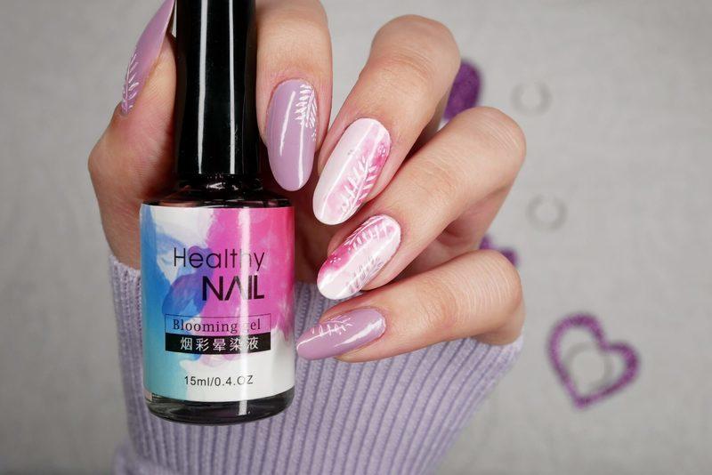 Blur mani nail art by MaliNaila
