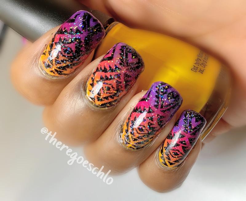 Summer Glow Up nail art by Chloe Jay