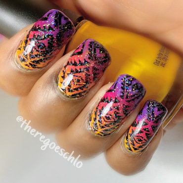 Summer Glow Up nail art by Chloe Jay