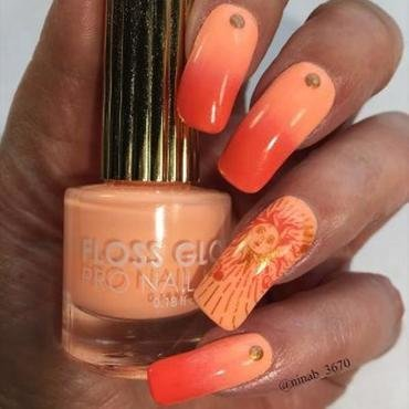 Summer Sun nail art by NinaB