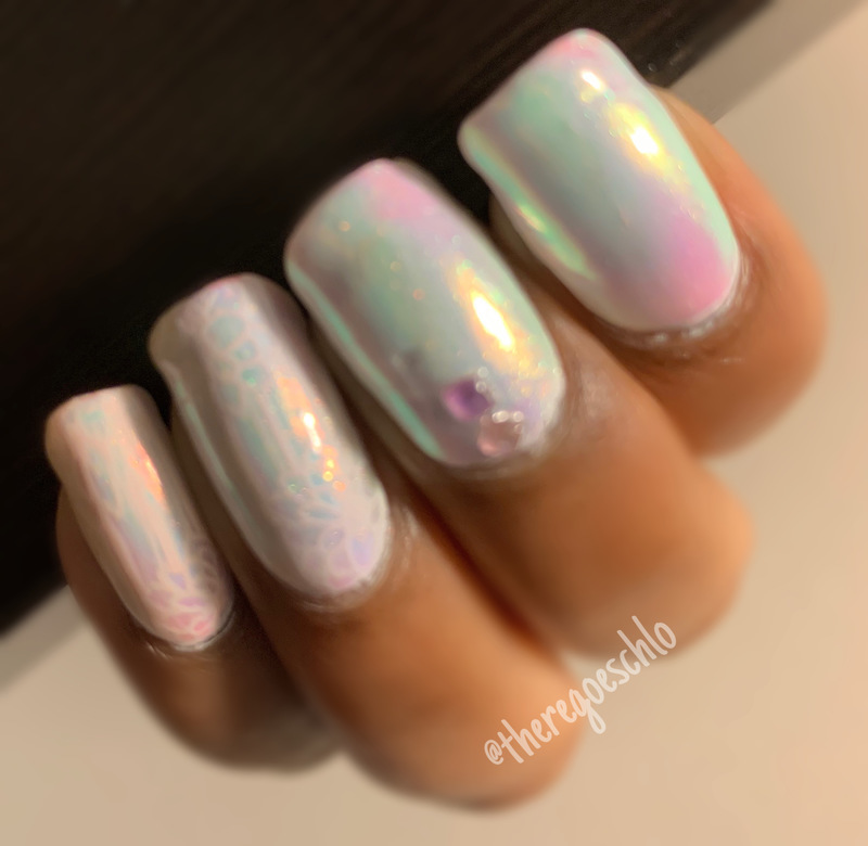 Year of the Unicorn 🦄  nail art by Chloe Jay