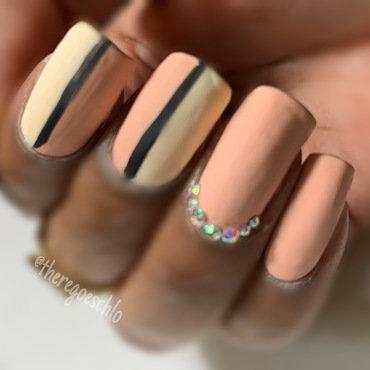 Matte Flipside Gemstones nail art by Chloe Jay