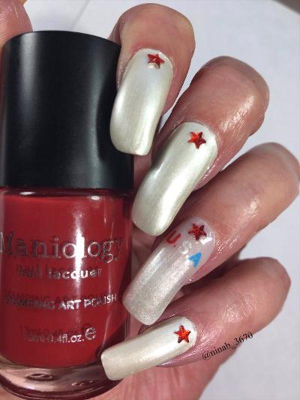 Happy Independence Day nail art by NinaB