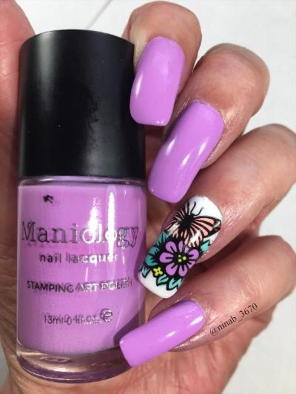 Sping in the Summer nail art by NinaB