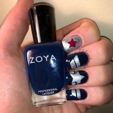Captain America: Winter Soldier Nail Art  nail art by lifedippedinpolish