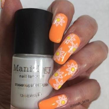 Neon Sun nail art by NinaB