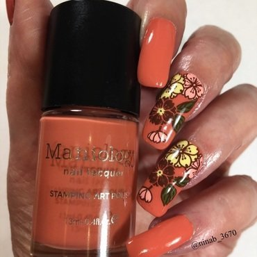 Pumpkin Spice nail art by NinaB