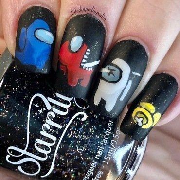 Among Us Nail Art nail art by lifedippedinpolish