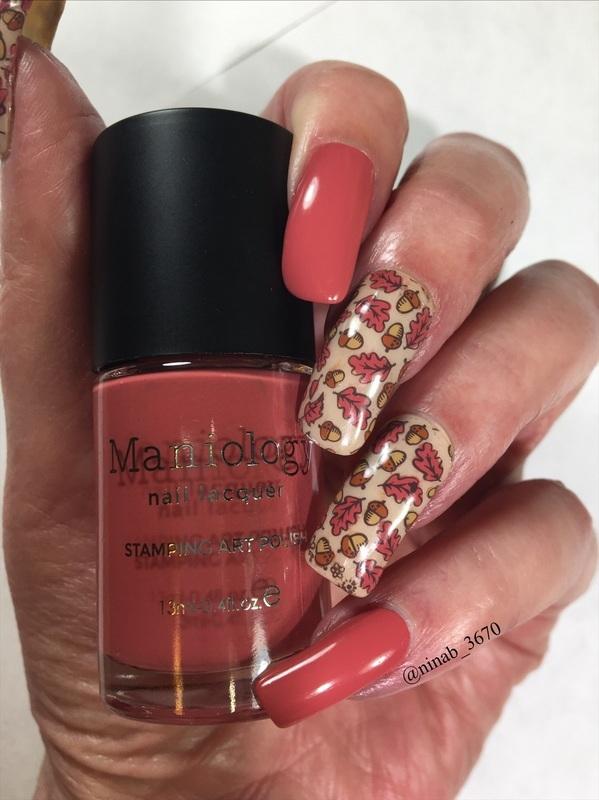 Acorns nail art by NinaB