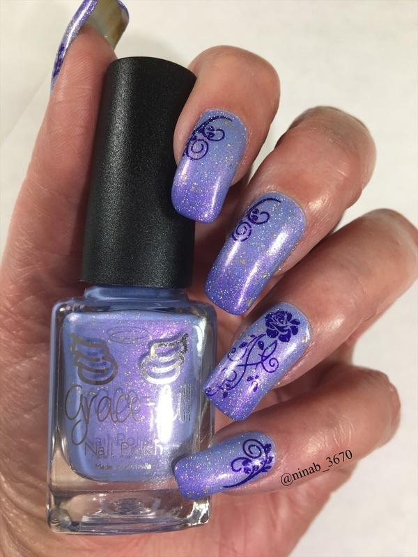 Holo Thermal nail art by NinaB