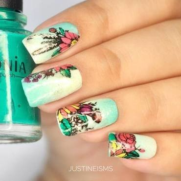 Fresh Spring nail art by ℐustine