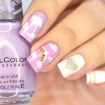 Purple Skies nail art by ℐustine