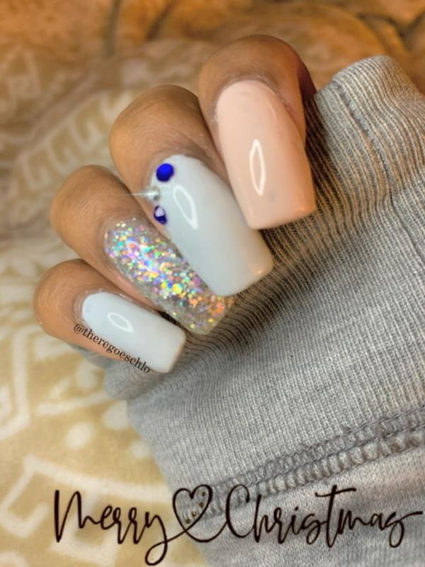 Silver Bells❄️✨ nail art by Chloe Jay