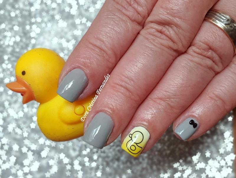 Rubber Duck nail art by Dora Cristina Fernandes