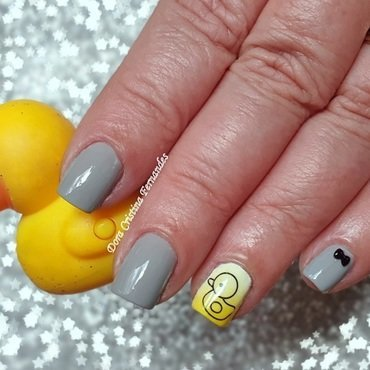 Rubber Duck nail art by Dora Cristina Fernandes