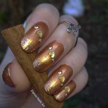 Cinnamon Nails nail art by Elpiola Lluka