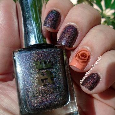 DESAFIO - Marca com letras do seu nome : LETRA A nail art by Dora Cristina Fernandes