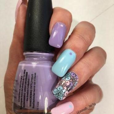 Pastel Spring Skittle nail art by NinaB