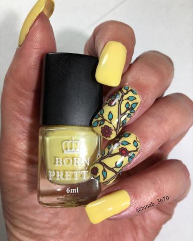 Mellow Yellow nail art by NinaB