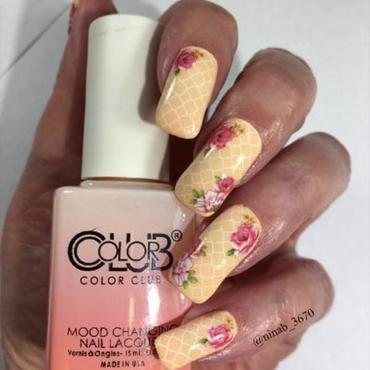 Rose Romance nail art by NinaB