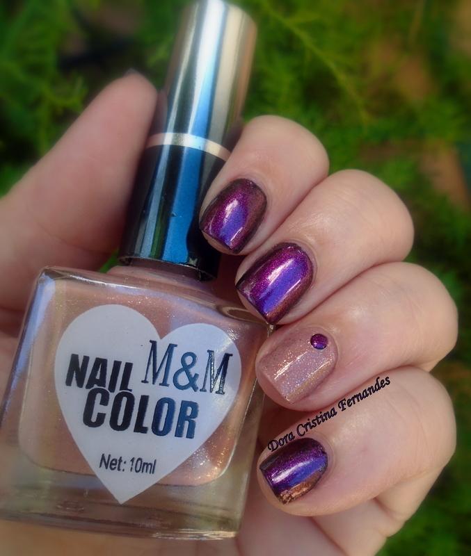 Granata e M&M nail art by Dora Cristina Fernandes