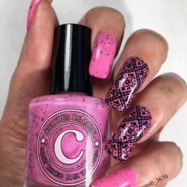 Solar Pink nail art by NinaB