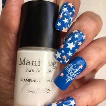 Independence Day '21 nail art by NinaB