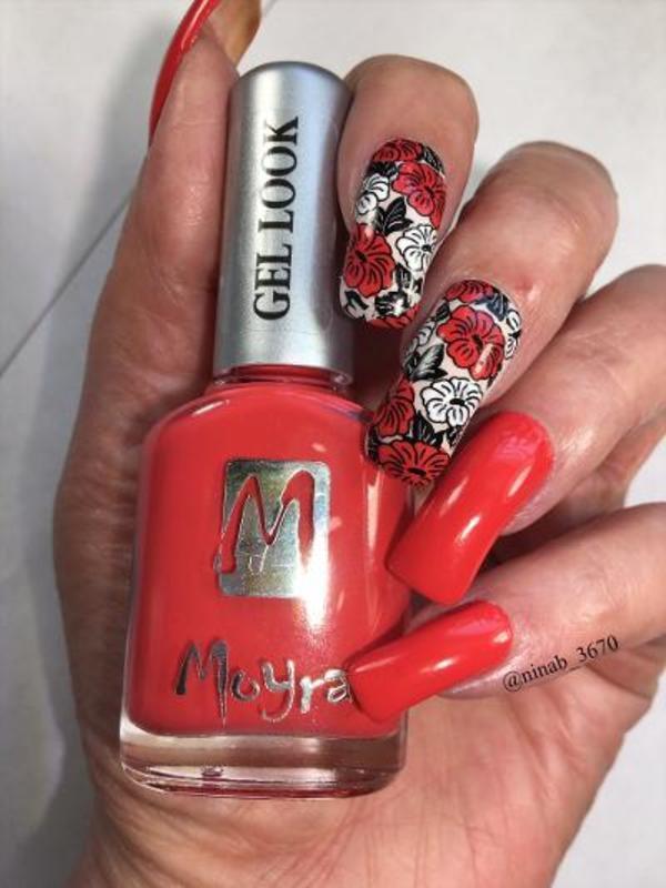 Summer Floral nail art by NinaB
