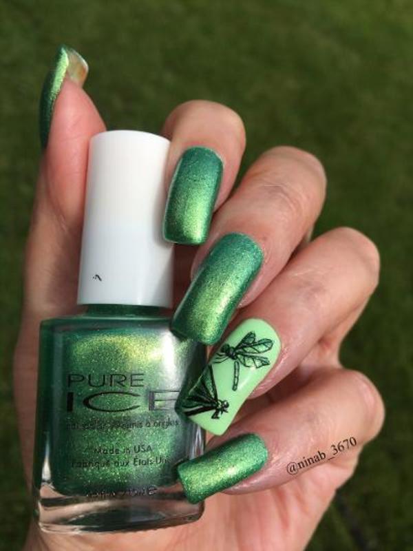 Dragonflies nail art by NinaB