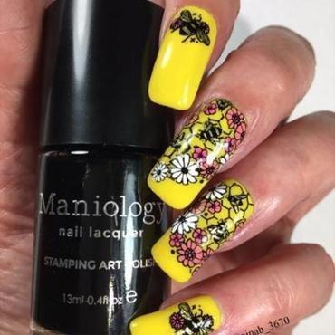 Summer Bees nail art by NinaB