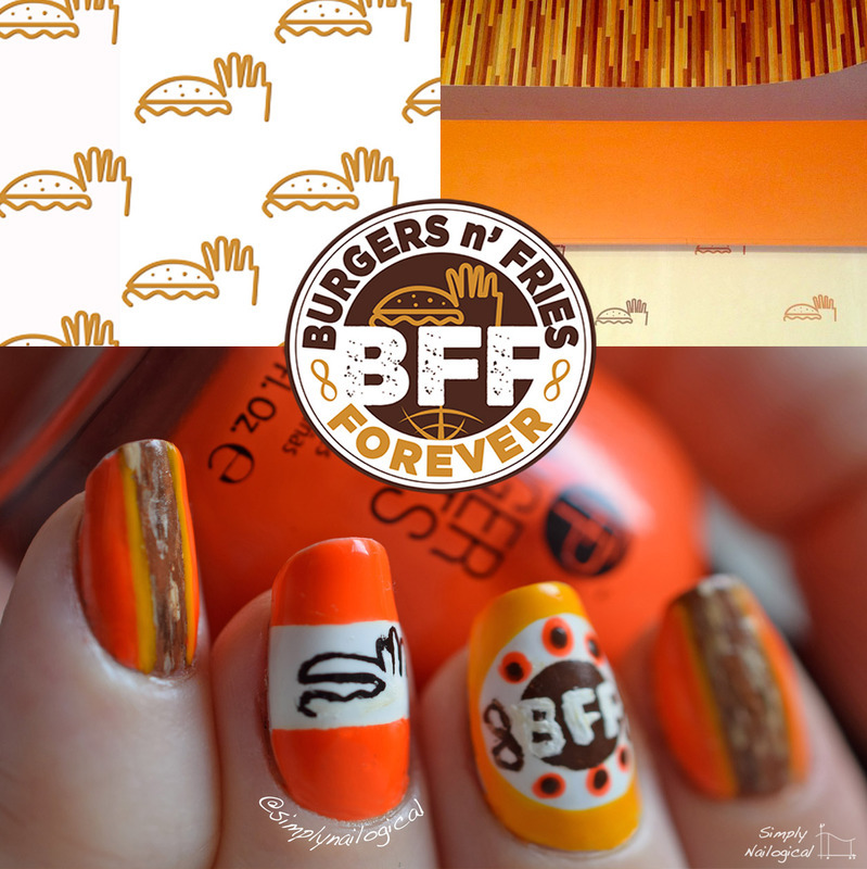 Burger shop inspired nails nail art by simplynailogical